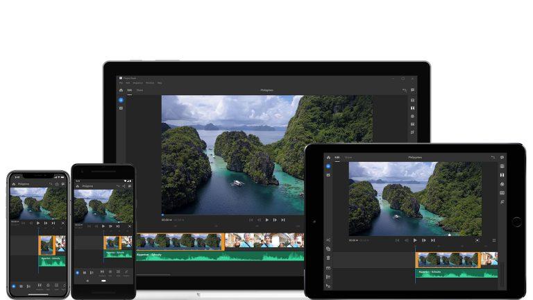 Adobe Project Rush: Software de edición para cualquier dispositivo (Smartphone, Tablet, etc.)
