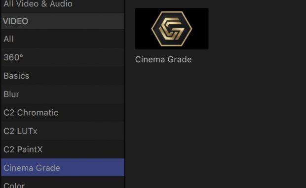 Cinema Grade: una graduación de color en tu NLE